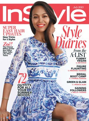 Zoe Saldana Covers InStyle, Talks Husband Taking Her Last Name