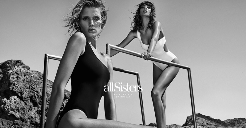 Fanny François and Sabrina Nait star in allSisters Swimwear campaign photographed by Hunter & Gatti