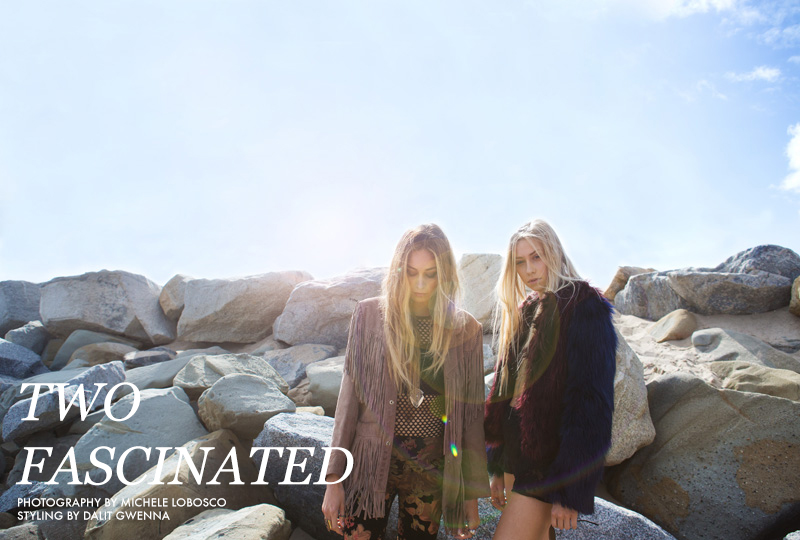 Shannon and Cait Barker star in 'Two Fascinated' photographed by Michele LoBosco