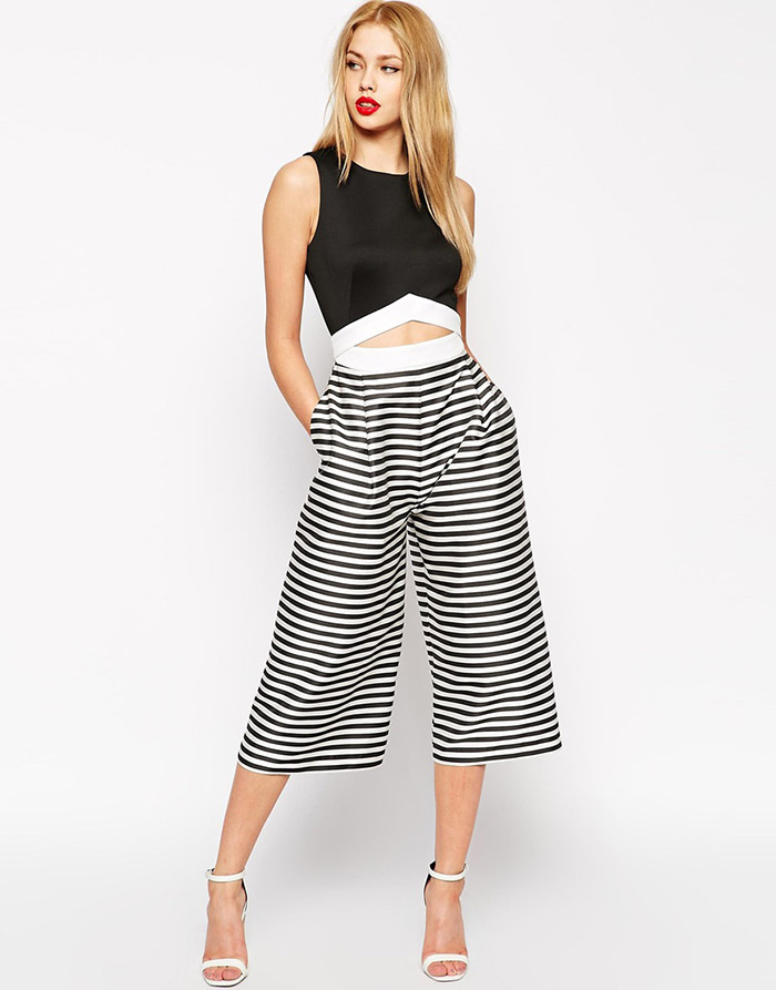 769956f58c5 ASOS Premium Striped Jumpsuit with Midi Leg available for  76.00