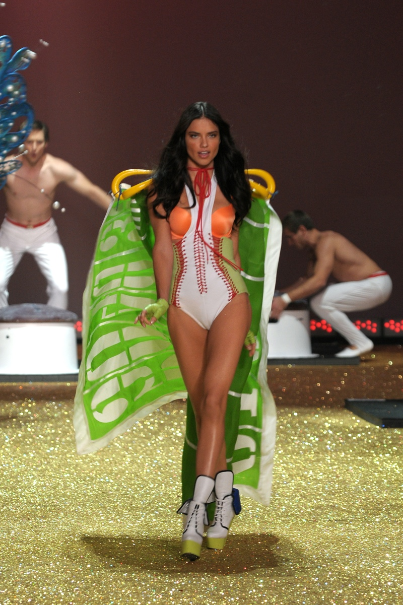 Fast forward to 2010 and Adriana Lima hit the runway in a sporty themed lingerie look at the Victoria's Secret Fashion Show. Photo: Fashionstock.com / Shutterstock.com