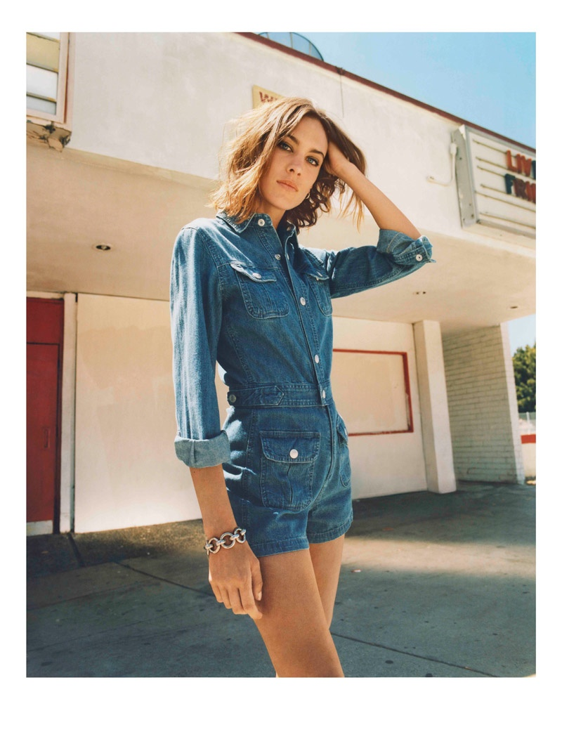 See Alexa Chung X Ag Jeans 39 Girl Gang Inspired Fall 2015 Collection Fashion Gone Rogue