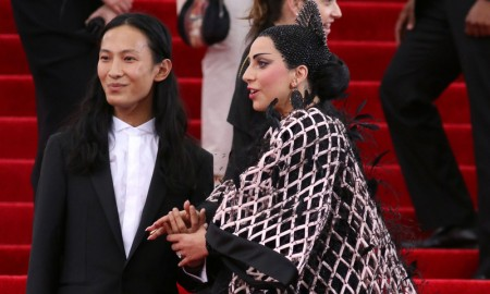 Alexander Wang with Lady Gaga (in Balenciaga) at the 2015 Met Gala. Photo: JStone / Shutterstock.com