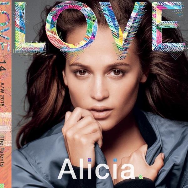 Alicia Vikander on LOVE Magazine cover