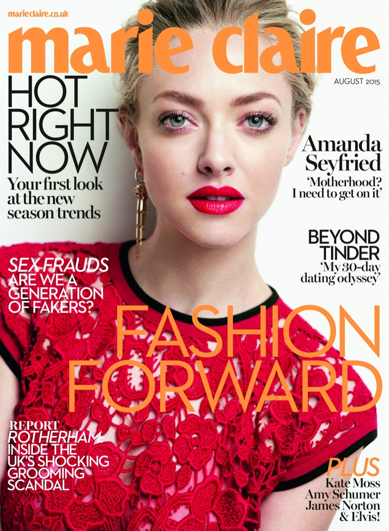 Amanda Seyfried Stars in Marie Claire UK, Talks Wanting Kids