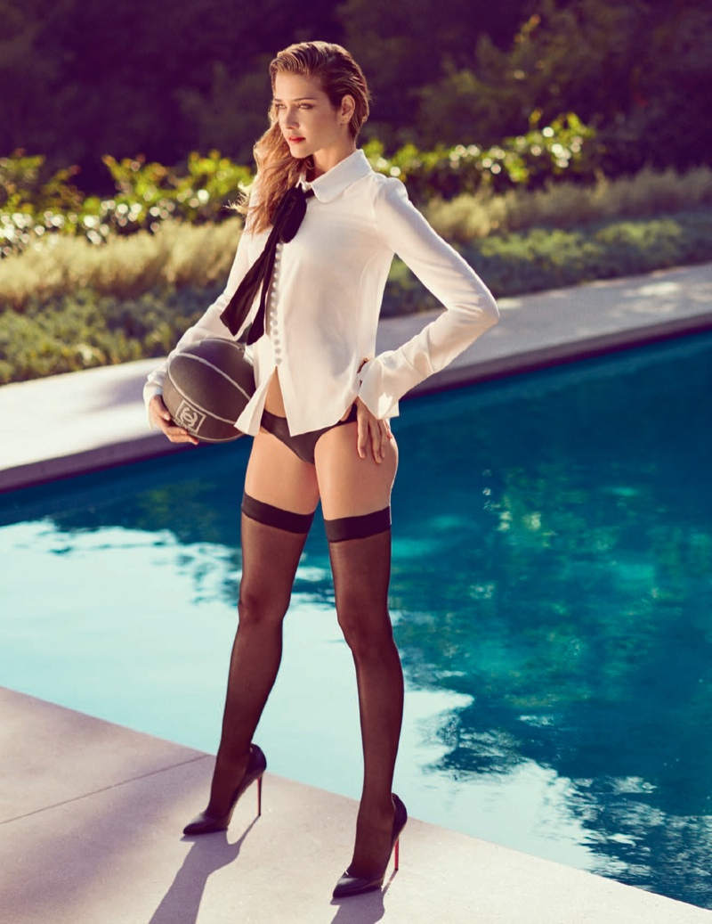 Ana Beatriz Barros Goes Poolside for Cover Story of L'Officiel Russia