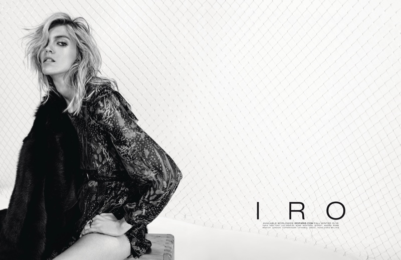 Anja Rubik is Effortlessly Chic in IRO's Fall 2015 Ads