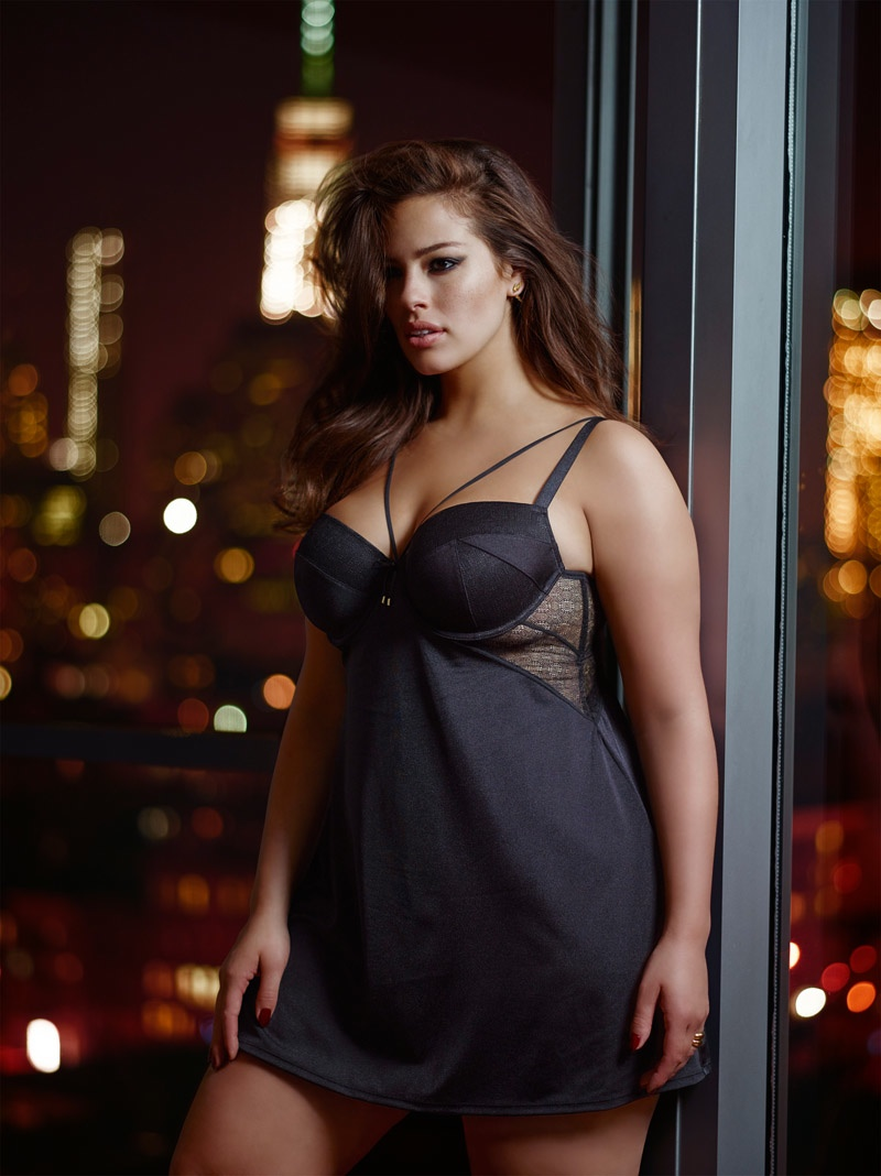 69d8174e80a Ashley Graham Seduces in Her Addition Elle Collaboration