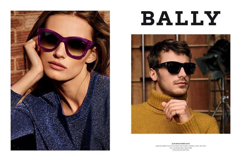 Edita Vilkeviciute Fronts Bally Fall 2015 Ads