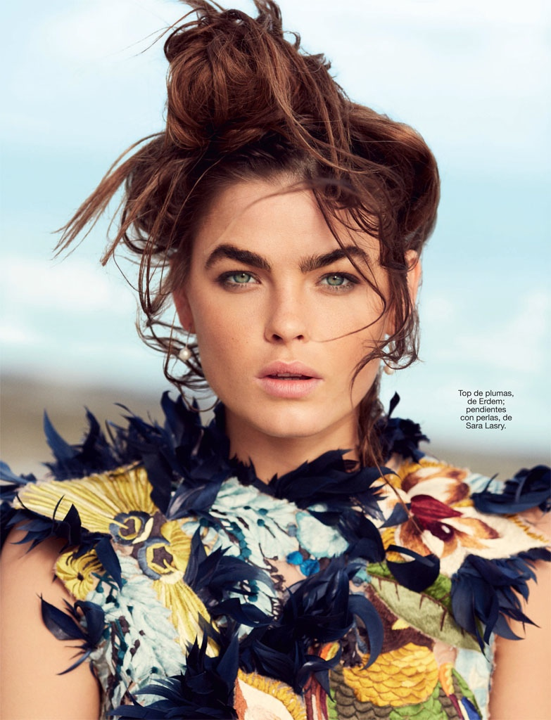 Bambi Northwood-Blyth Hits the Beach for Cover Story of Glamour Spain