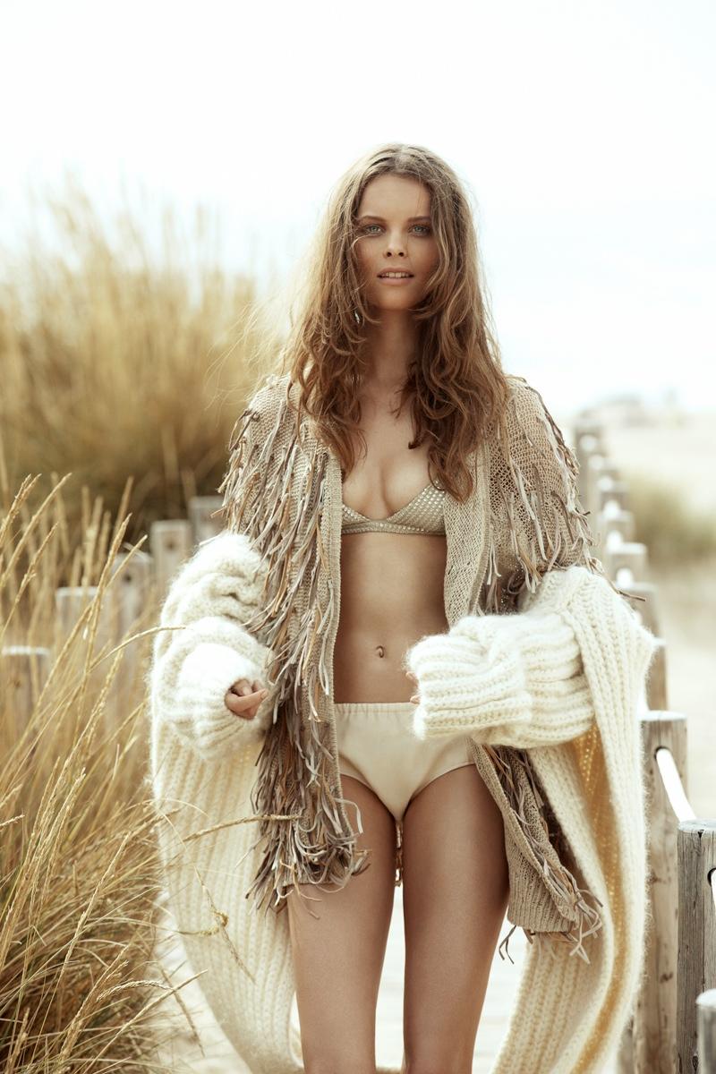 Beach Chic: Anouk de Heer Poses for Richard Bernardin in Grazia Paris