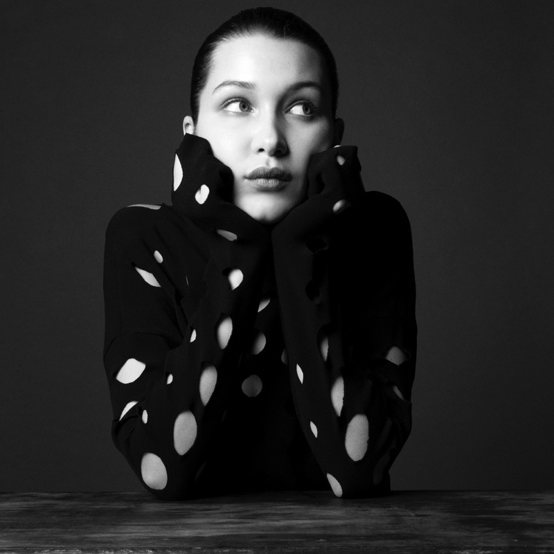 Bella Hadid Models Monochrome Looks for Unconditional No. 1