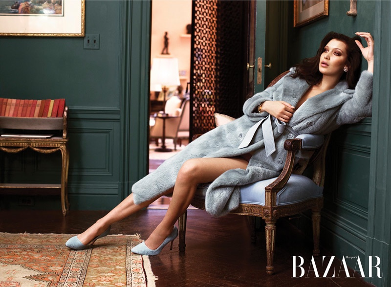 Bella Hadid Channels Iconic Style in Harper's Bazaar Editorial