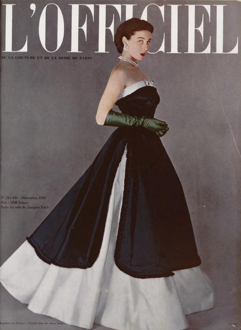 Bettina Graziani on the cover of L'Officiel Paris (1950)