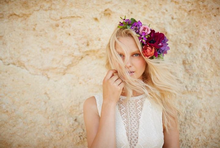 Hannah Holman Gets Swept Away in BHLDN's Bohemian Bridal Selection