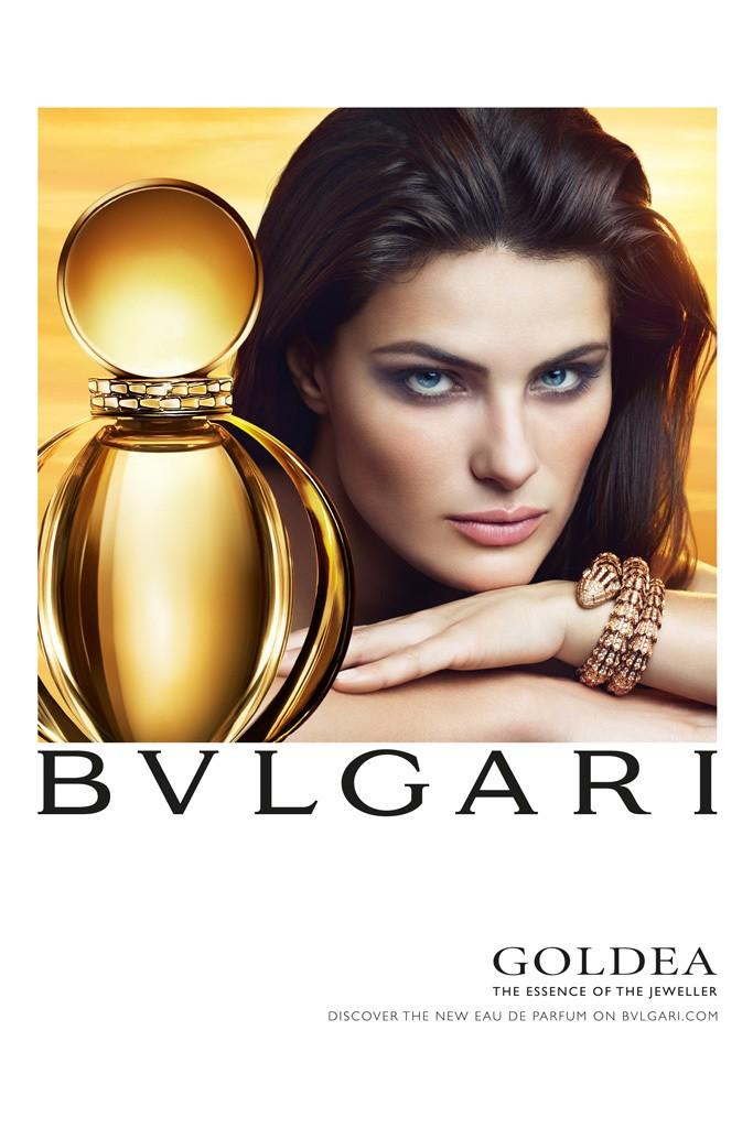 Isabeli Fontana for Bulgari Goldea fragrance advertising campaign