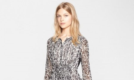 Burberry Brit 'Tabatha' Print Silk Dress available for $529.90 at Nordstrom (was $795.00)