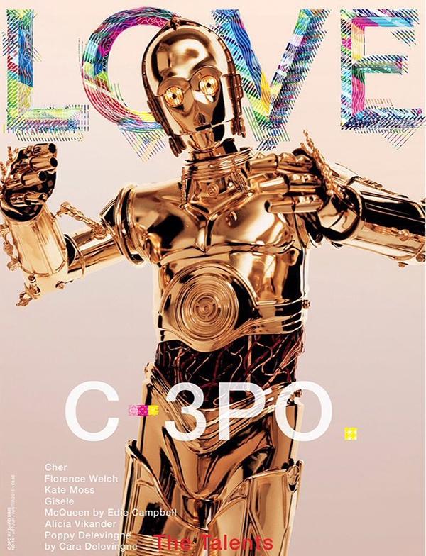 C-3PO on LOVE Magazine cover