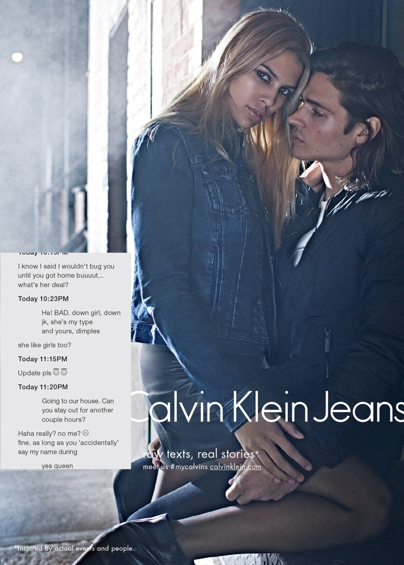 Calvin Klein Jeans Takes on Sexting for Fall 2015 Campaign