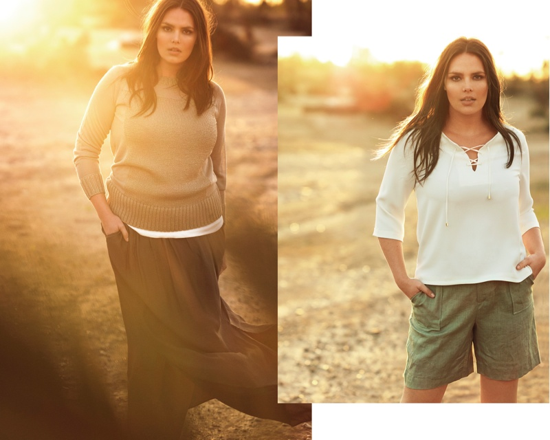 Candice Huffine is a Summer Beauty in Violeta Catalogue