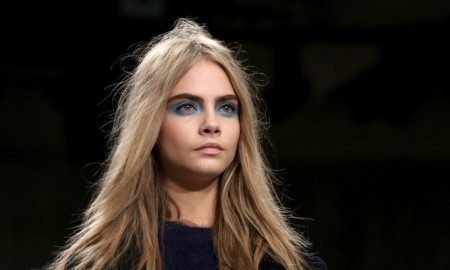 Cara Delevingne on the Topshop runway. Photo: Featureflash / Shutterstock.com