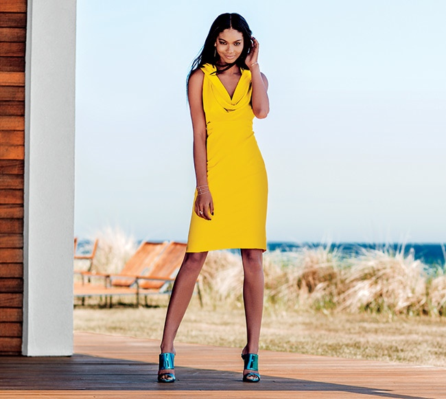 Chanel Iman Hits the Beach for Hamptons Magazine, Talks New Film 'Dope'