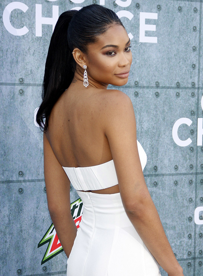 Model Chanel Iman rocks dark hair in many different styles. Photo: Tinseltown / Shutterstock.com