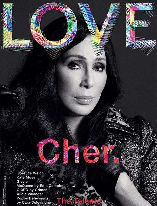 Cher on LOVE Magazine cover