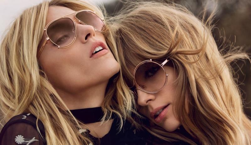 Anja Rubik + Julia Stegner Make a Stylish Duo in Chloe's Fall 2015 Campaign