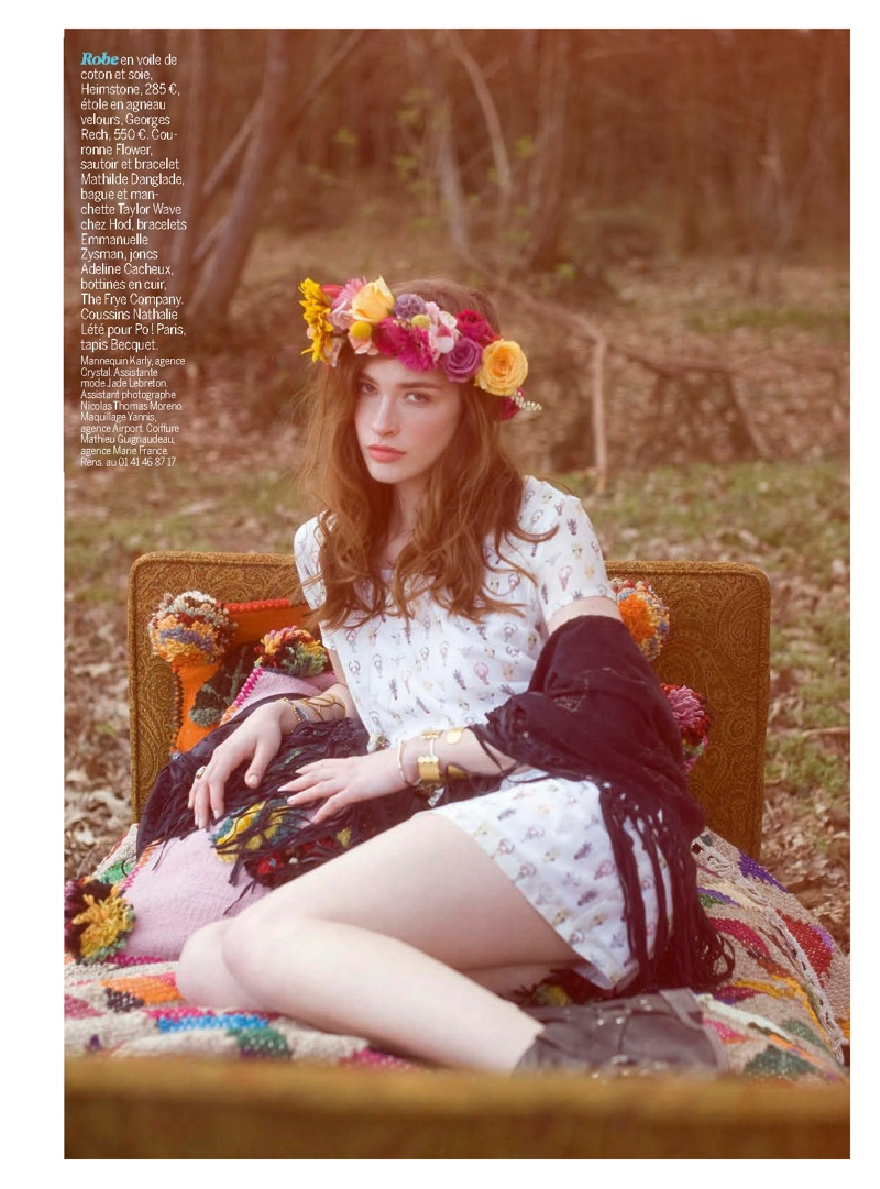 Karly McNeil Wears Coachella Style for Cosmopolitan France by Nicolas Aristidou