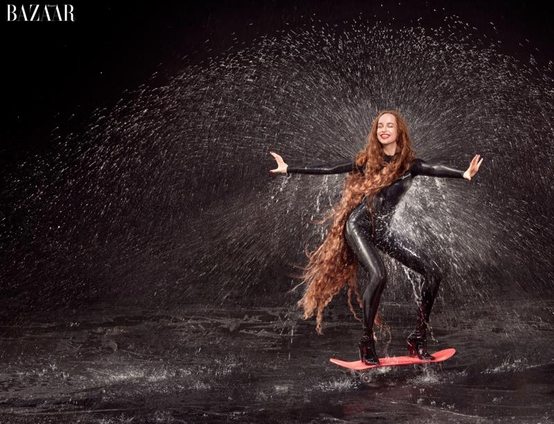 Dakota Johnson as Aphrodite for Harper's Bazaar