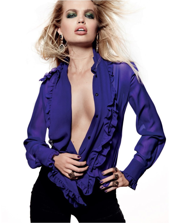 Daphne Groeneveld Channels Rock & Roll Style for Vogue Russia