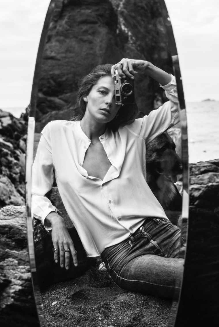 Daria Werbowy is Reflective in Equipment's Fall 2015 Ads