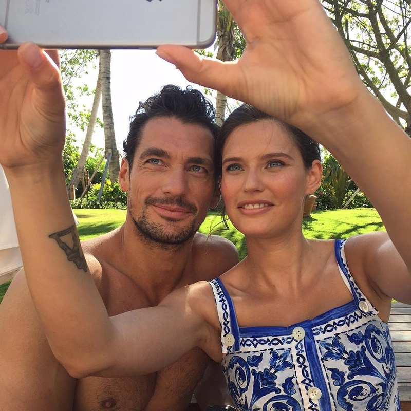 Bianca Balti Reconnects with Dolce & Gabbana Light Blue Co-Star, David Gandy