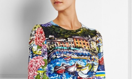 Dolce & Gabbana Portofino Printed Brocade Mini Dress available for $3,475