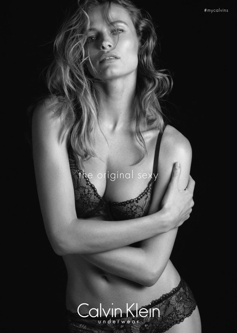 Edita Vilkeviciute for Calvin Klein Underwear fall-winter 2015 campaign