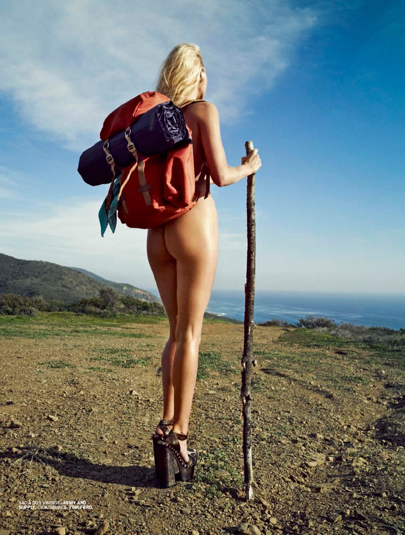 Elsa Hosk Strips Down for Hitchhiking Inspired Lui Editorial