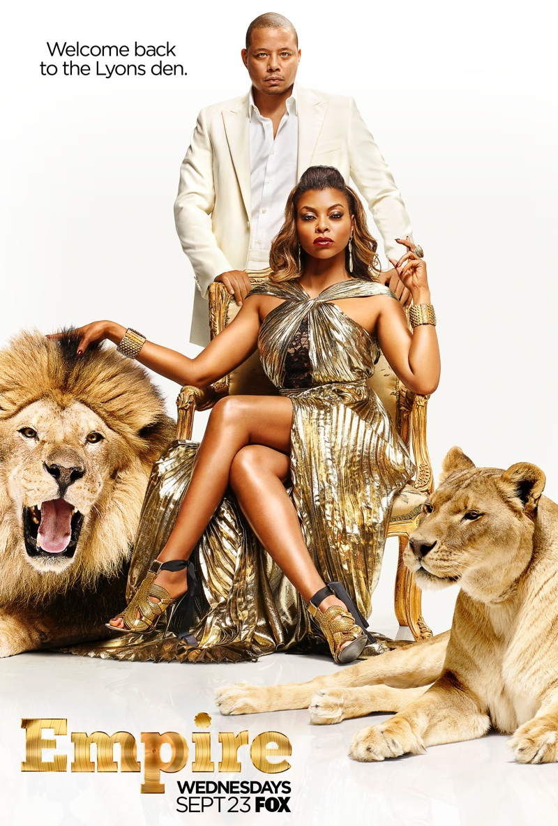 Taraji P. Henson is Dipped in Gold for 'Empire' Season 2 Poster