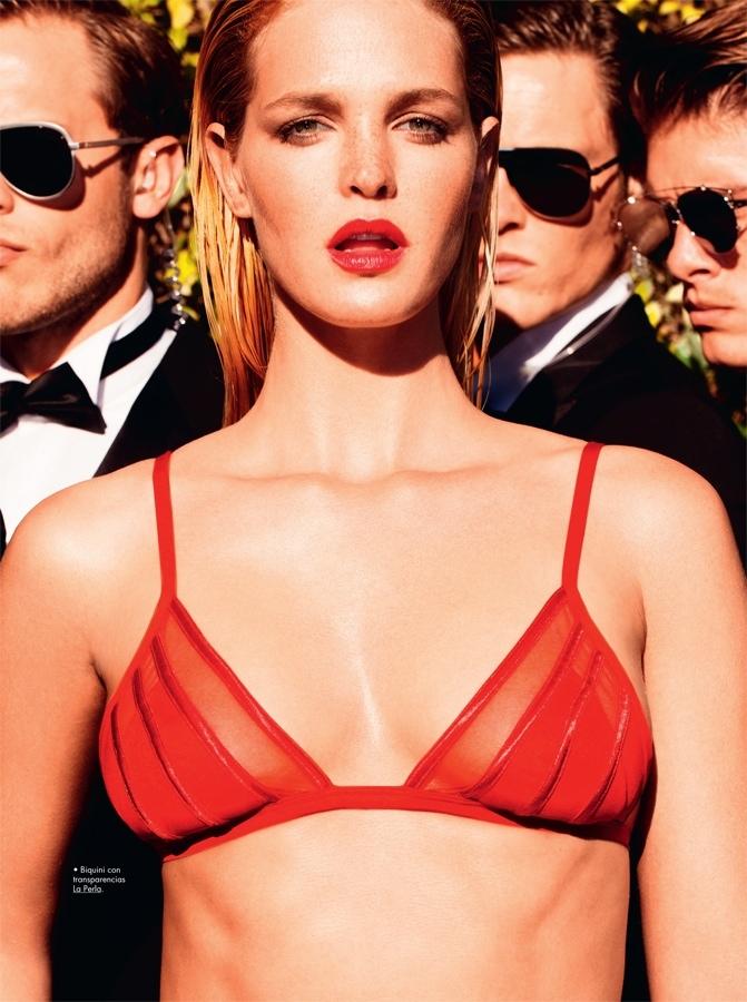 Erin Heatherton is a Blonde Bombshell in GQ Spain by Tony Kelly