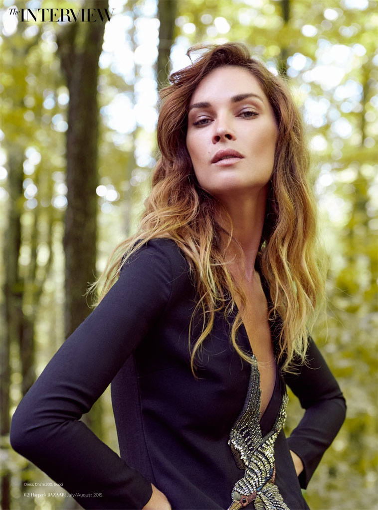 Erin Wasson Wears Gucci Looks for Cover Story of Harper's Bazaar Arabia