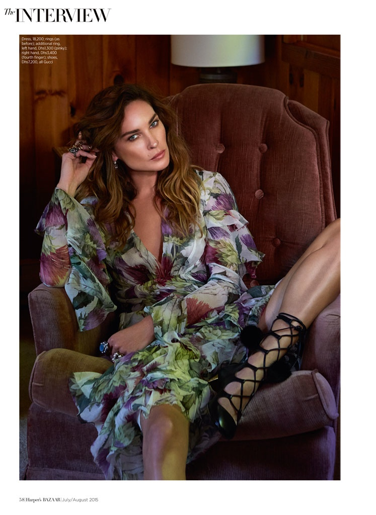 Erin Wasson Wears Gucci Looks for Cover Story of Harper's Bazaar Arabia