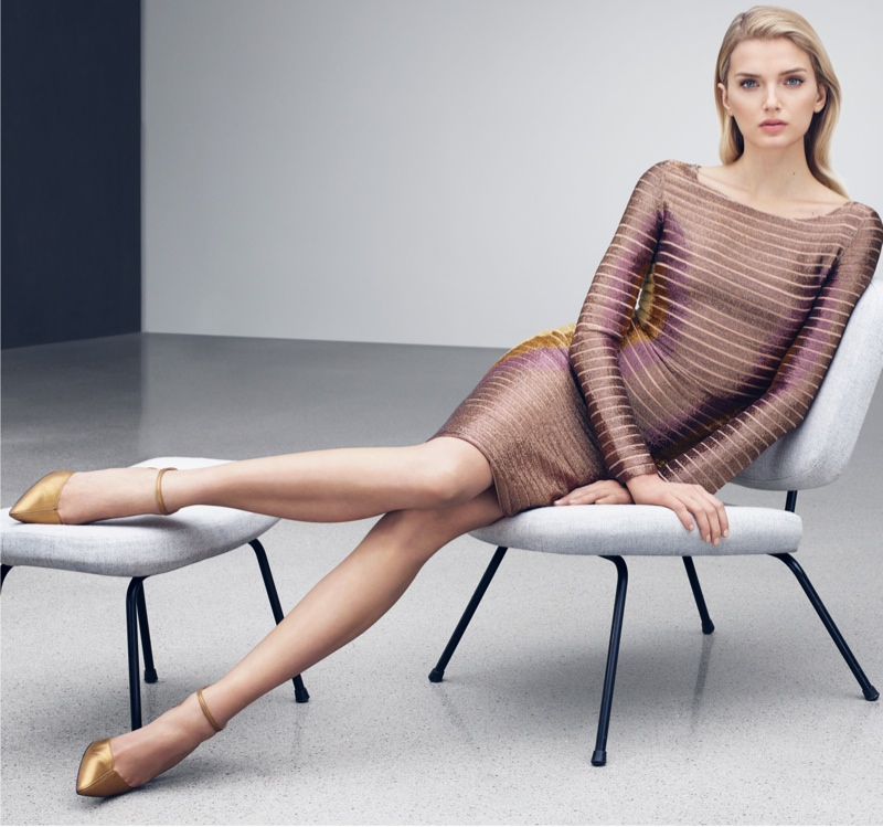Lily Donaldson Wears Elegant Looks in ESCADA's Fall 2015 Ads