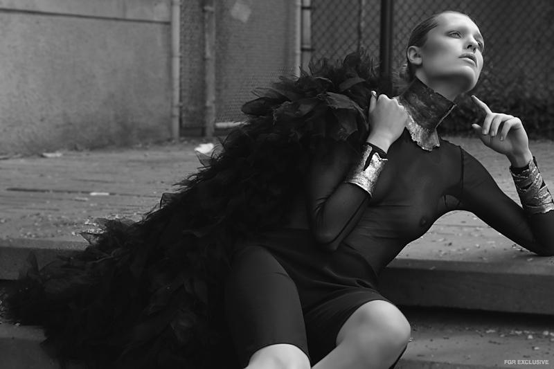 Wolford Bodysuit, Vera Wang Shorts, Vera Wang Dress, Sterling King Neckpiece, Sterling King Cuffs