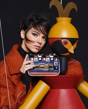 Kendall Jenner + Lily Donaldson Pose with Puppets in Fendi's Fall 2015 Ads