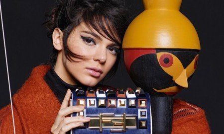 Kendall Jenner in Fendi's fall 2015 campaign photographed by Karl Lagerfeld