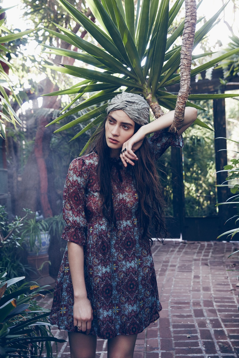 Marine Deleeuw is a 'Gypsy Dreamer' in For Love & Lemons' Fall Lookbook