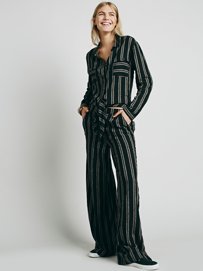 f815a7aa4e0 Free People Sensual Wrapped Striped One-Piece available for  128.00