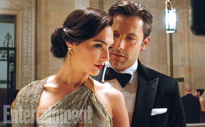 Gal Gadot as Diana Prince in Batman v Superman with Ben Affleck