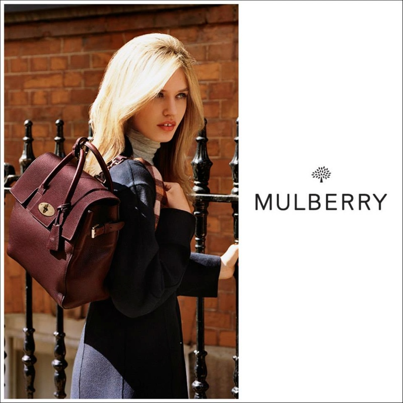 Georgia May Jagger Poses in London for Mulberry's Fall 2015 Ads