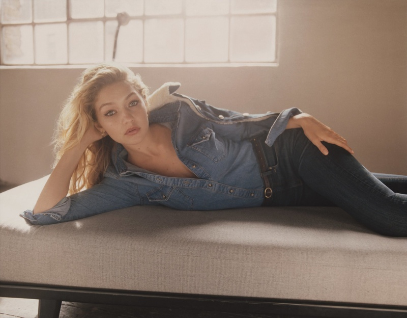 Gigi Hadid Rocks Casual Style in Topshop's Fall 2015 Campaign